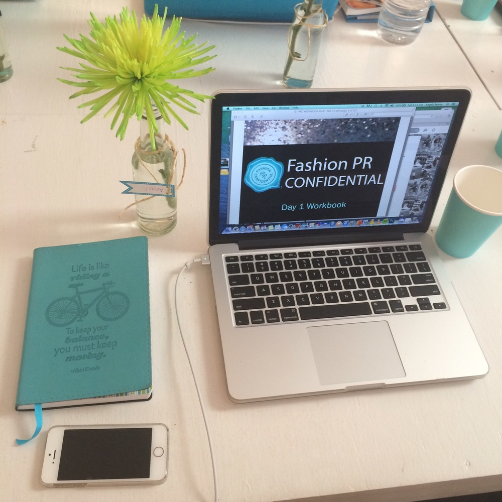 The Fashion PR Con Day 1 Workbook!