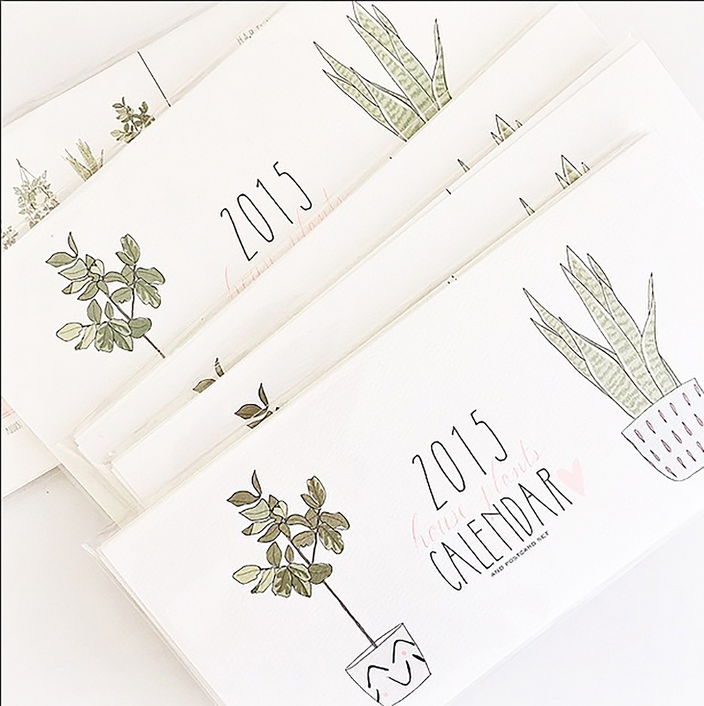 Hartland Brooklyn  gave us these gorgeous house plant calendars, because duh! We need to stay organized. Oh, and they double as postcards. All we have to do is tear the dates off at the perforated line, and voila, instant stationery to brighten someone's day!
