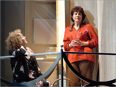 Cancer-patient Ana (Bobbie Steinbach, left) is involved with a doctor who is married to Lane (Paula Plum, right) in Sarah Ruhl's play. (Andrew Brilliant/Brilliant Pictures)