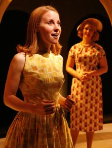 Erica Spyres (left) and Amelia Broome play an American mother and daughter touring Italy. (Mike Lovett)
