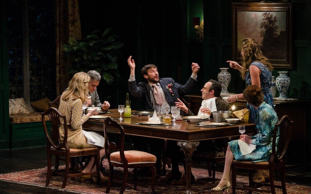 "The cast of ""Table Manners,"" part of Alan Ayckbourn's ""The Norman Conquests,"" at Dorset Theatre Festival. (Photo by Taylor Crichton)"