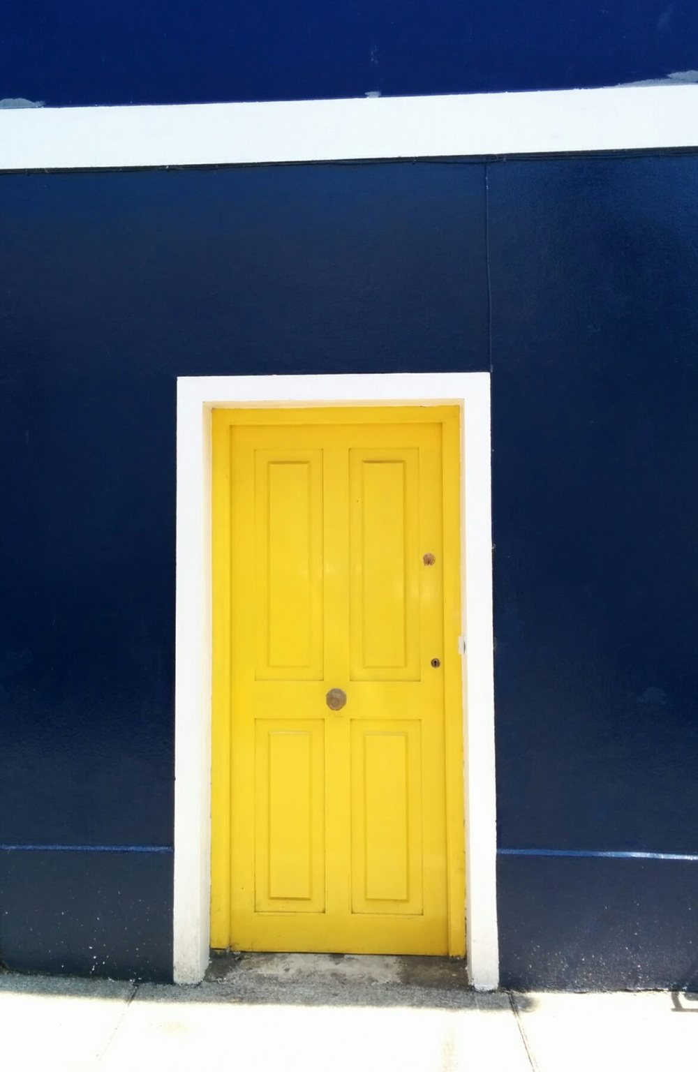 Blue house with yellow door, Dingle, Co. Kerry