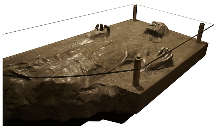 Broken Han Solo in Carbonite coffee table, by R9