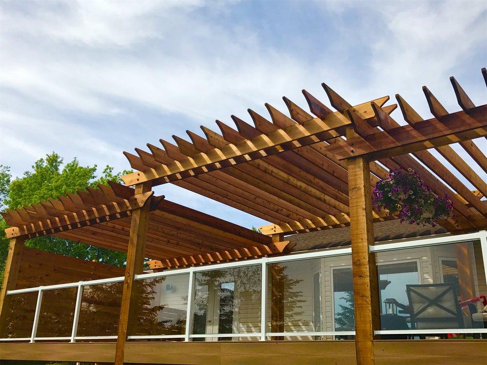 New Cedar Pergola