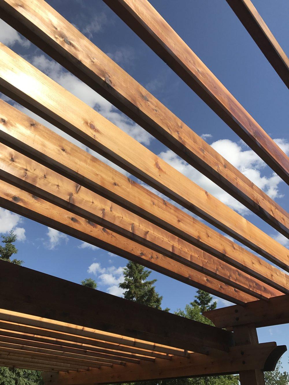 Linseed Oil on Cedar