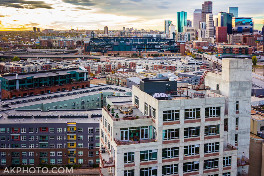 Aerial Photo of Downtown Denver - LoDo