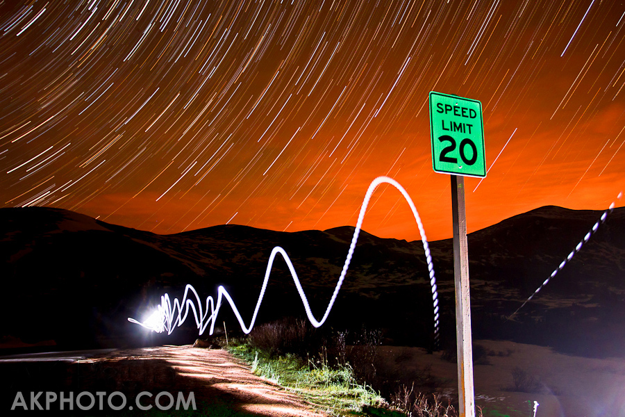 Star Trails above Guanella Pass Road, Colorado