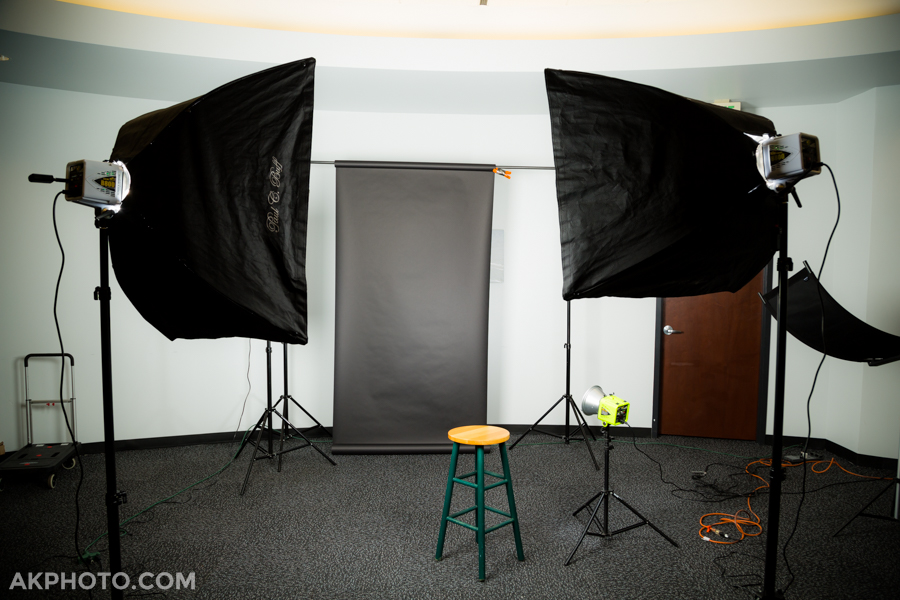 Mobile portrait studio; on location headshots in Denver Tech Center (DTC)