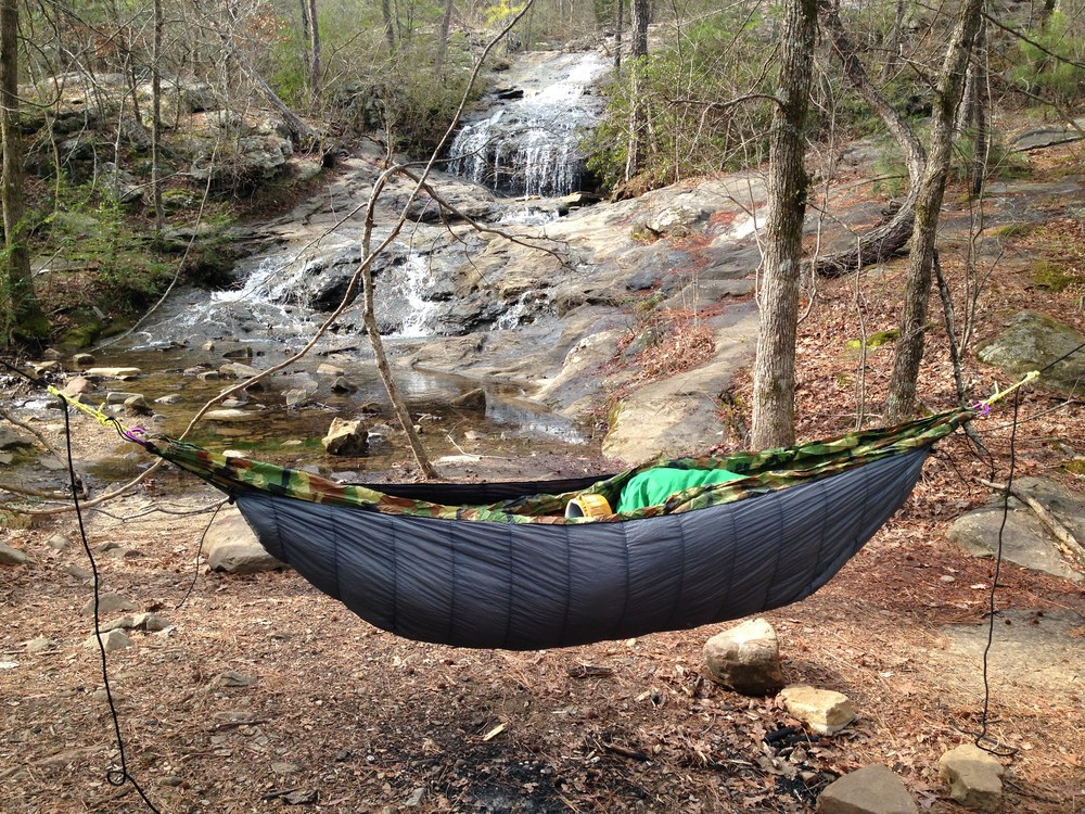 An underquilt is the key to hammock warmth