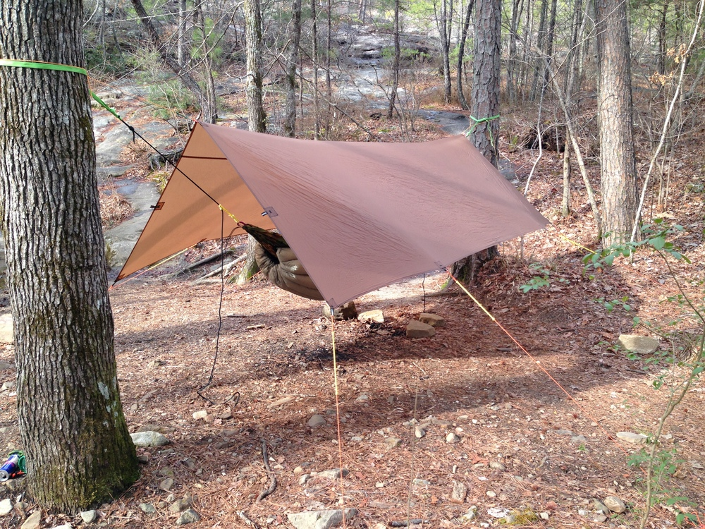 A-frame setup for maximum airflow, headroom and ground coverage.