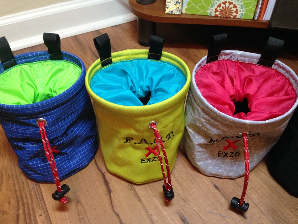 Custom bags for the First Avenue Climbing Team