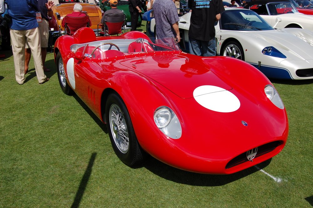 1957 Maserati 200 SI racer. Not be to confused with a particular Nissan.
