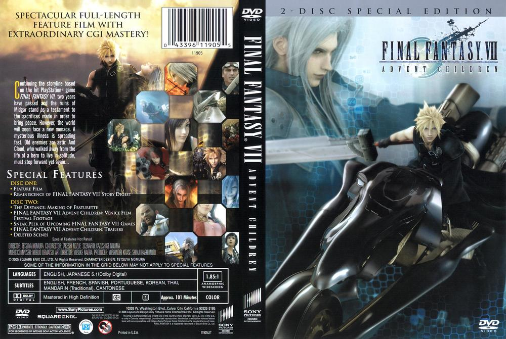 Final Fantasy VII Advent Children DVD Cover