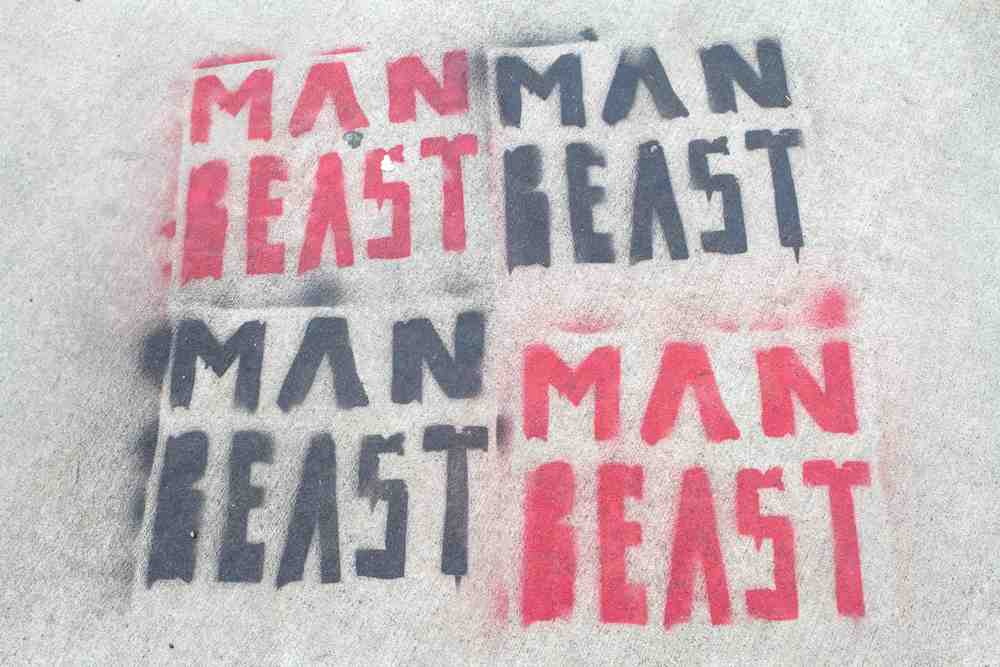 Man Beast - Street Art - Kyle Rea Photography - cREAtive Castle Studios