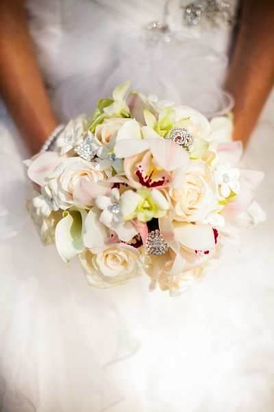 The full effect of the bridal bouquet with the dress. Yup, it was a stunner if I do say so myself :)