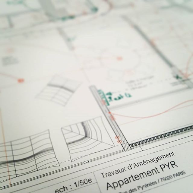 Projet archi-déco dans les cartons en collab avec @grandhuit_architecture Affaire à suivre... Paris XX #blueprint #paris #decor #decoration #interiordesign #interiors #interieurs #architecture #archi #plan #deco #appartement #flat #appartment #interiordesign #france #start #igersarchitecture #conception #creation #crea #pyrennees #bagnolet #paris20 #parisjetaime #igersparis
