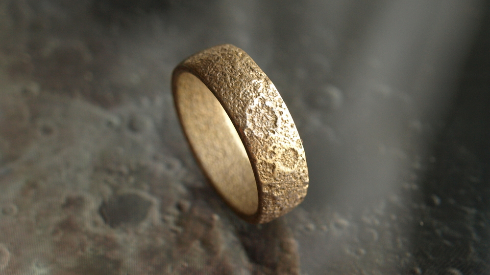 Moon Ring - A topographically correct slice of Moon / $88Modeled with planetary data from NASA