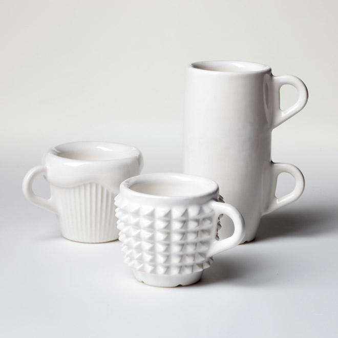 One Coffee Cup a Day - Experiment on creativity and rapid manufacturing,by ideating, designing, modeling and making available for production and purchase a coffee cup within 24 hours, everyday during one month.3D Printed in Ceramics