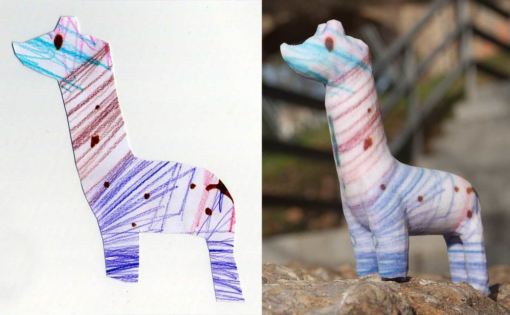 Crayon Creatures - 3D Printed Figurines from Children's DrawingsA service to turn wonderful drawings into awesome figurines; nice looking designer objects to decorate the home and office with a colorful touch of wild creativity.