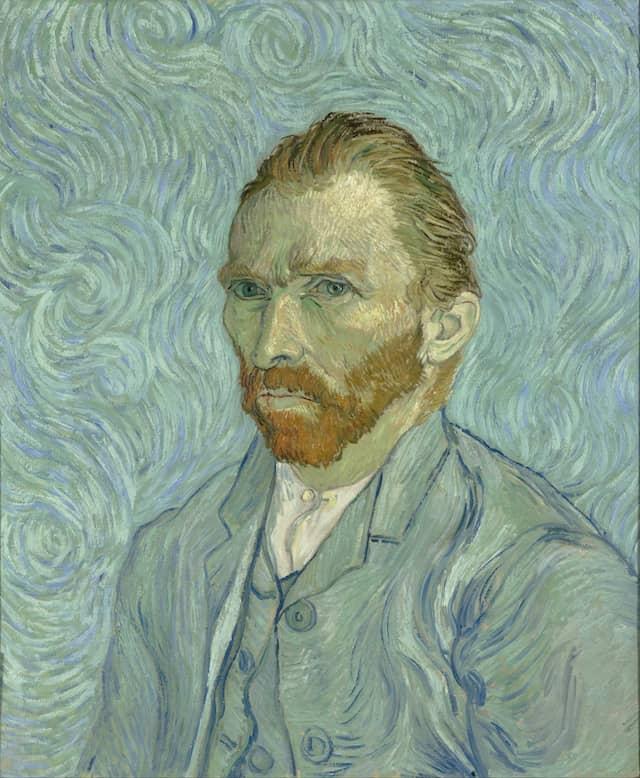Self-Portrait - Vincent van GoghSeptember 1889Oil on canvas65 × 54 cmMusée d'Orsay, Paris.This may have been Van Gogh's last self-portrait.