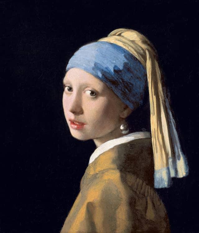 Girl with a Pearl Earring - Meisje met de parelJohannes Vermeerc. 1665Oil on canvas44.5 cm × 39 cm Mauritshuis, The Hague, Netherlands