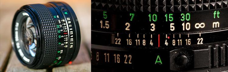 Linea que nos indica la apertura del diafragma, un concepto clave en la fotografía.