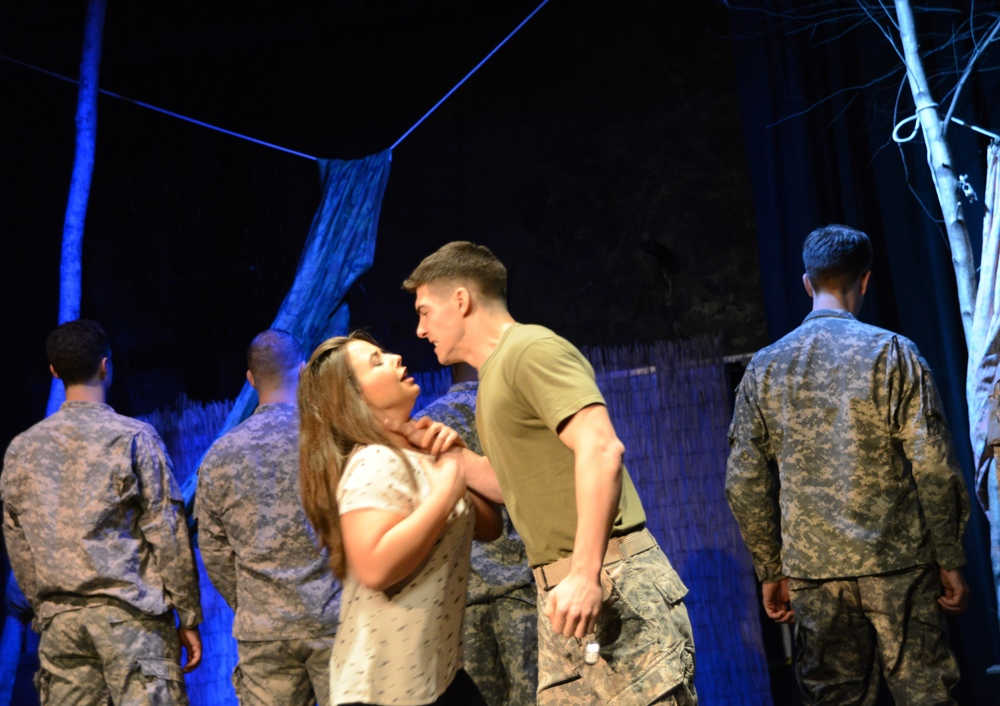 "Annabelle & Pvt. Michael Dunalley, ""Deployed, the Musical"""