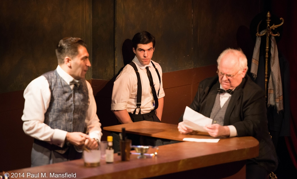 "Tomaso (Christopher Tocco), Giovanni & Mr. Judge (John Robert Tillotson), The Attic Theater's ""Strictly Dishonorable"""