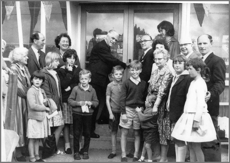 The new Pavilion was opened by Col. Alexander Woods, Hon. Treasurer National Playing Fields Association 12th June 1965