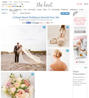 Caroline & John's fall Wychmere wedding was featured by The Knot.