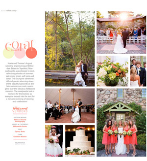 Thomas & Nuria's wedding was featured in Bliss Celebrations Guide.