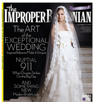 Cover and feature spread for the Improper Bostonian.