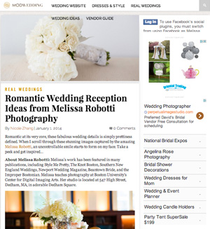 Mod Wedding featured selections of wedding reception details.