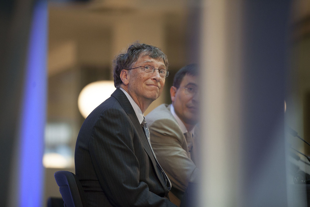 Bill Gates at a conference at Unilever in London during a summit on World nutrition.  For the Bill & Melinda Gates Foundation.