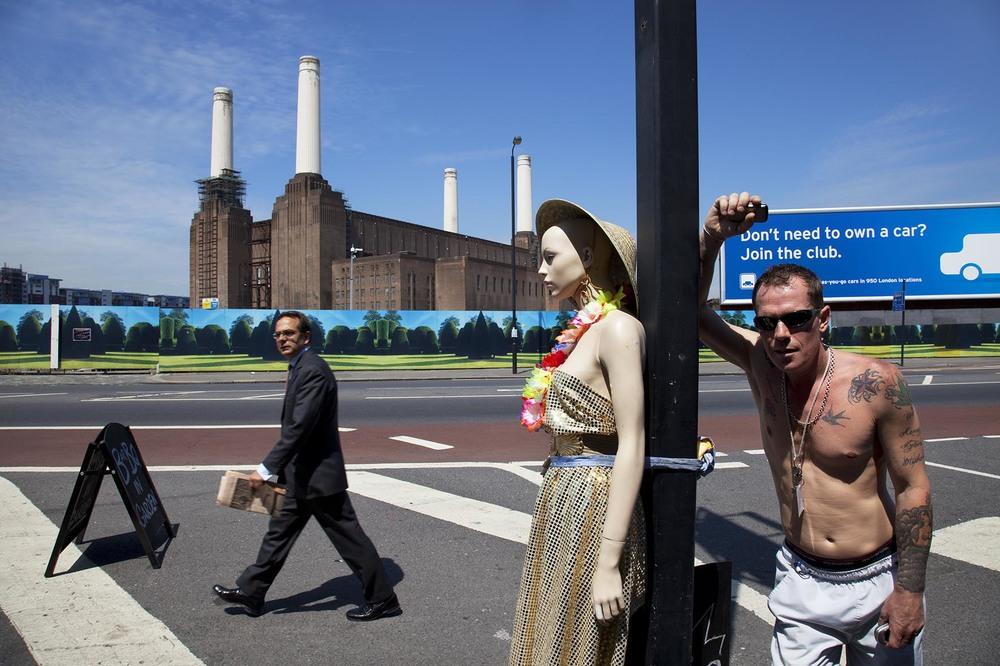 Strange street scene in Battersea, London.