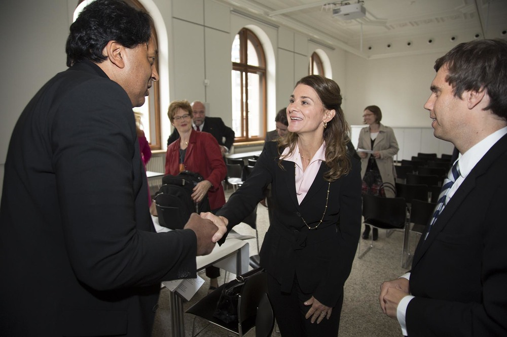 "Melinda Gates meets delegates before ONE Germany's ""Ich Schaue Hin"" Campaign.  For the Bill & Melinda Gates Foundation."