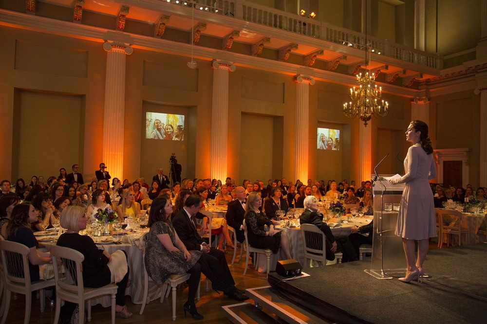 Champions for Change Awards Dinner at Banqueting House. HRH The Crown Princess Mary.  For the International Centre for Research on Women.