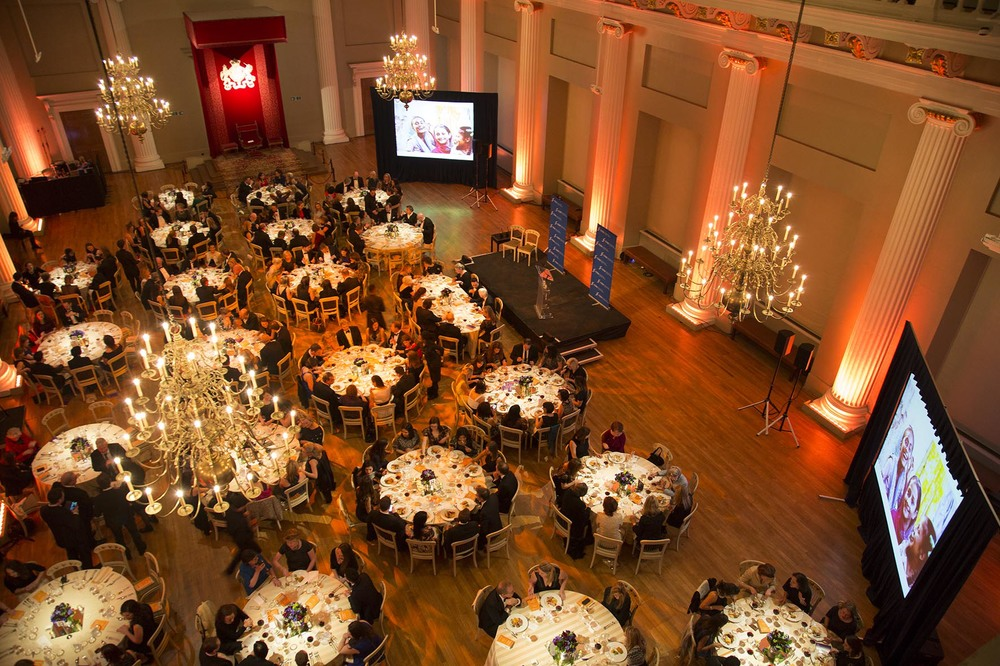 Champions for Change Awards Dinner at Banqueting House.  For the International Centre for Research on Women.