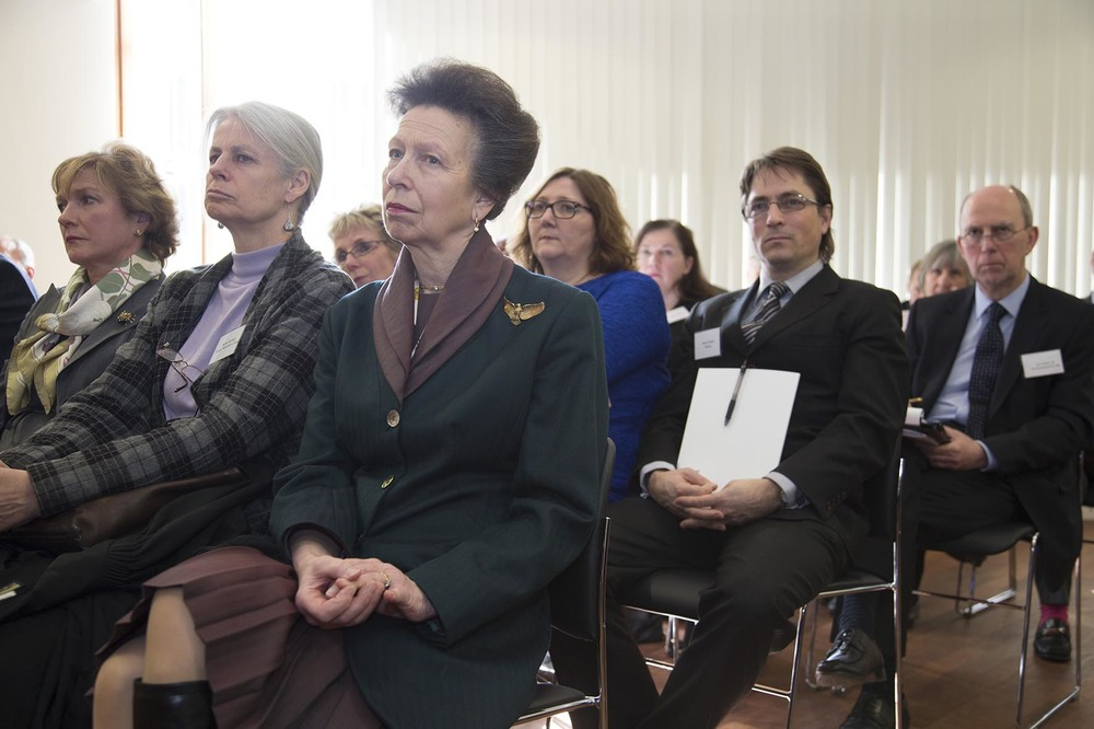 HRH Princess Royal listens to a presentation at Criminal Justice Alliance conference.  For the Criminal Justice Alliance