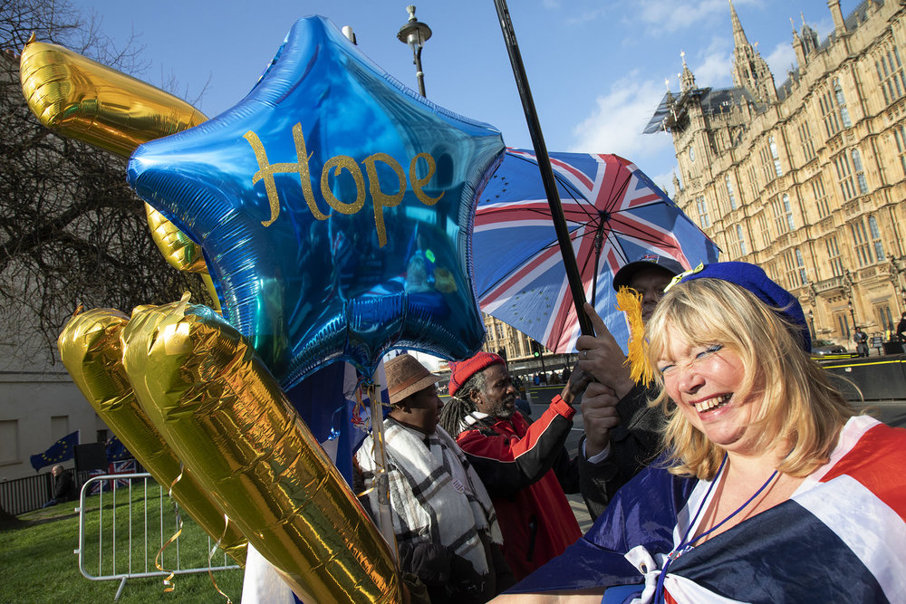 Hope for the remainers as the date of the UK leaving the European Union is extended, the pro EU protest continues as MPs from all sides try to gain control of the process, as they debate the various options in the commons.