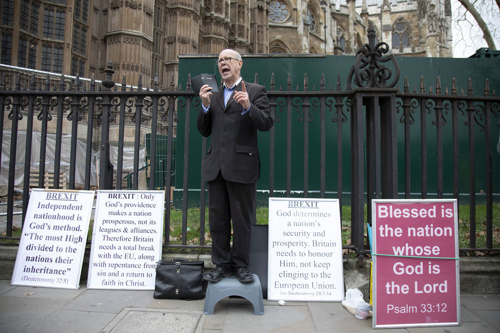 God backs the Leave campaign according to this man on the day of the first 'meaningful vote' when MPs will back or reject the Prime Minister's Brexit Withdrawal Agreement on 15th January 2019.