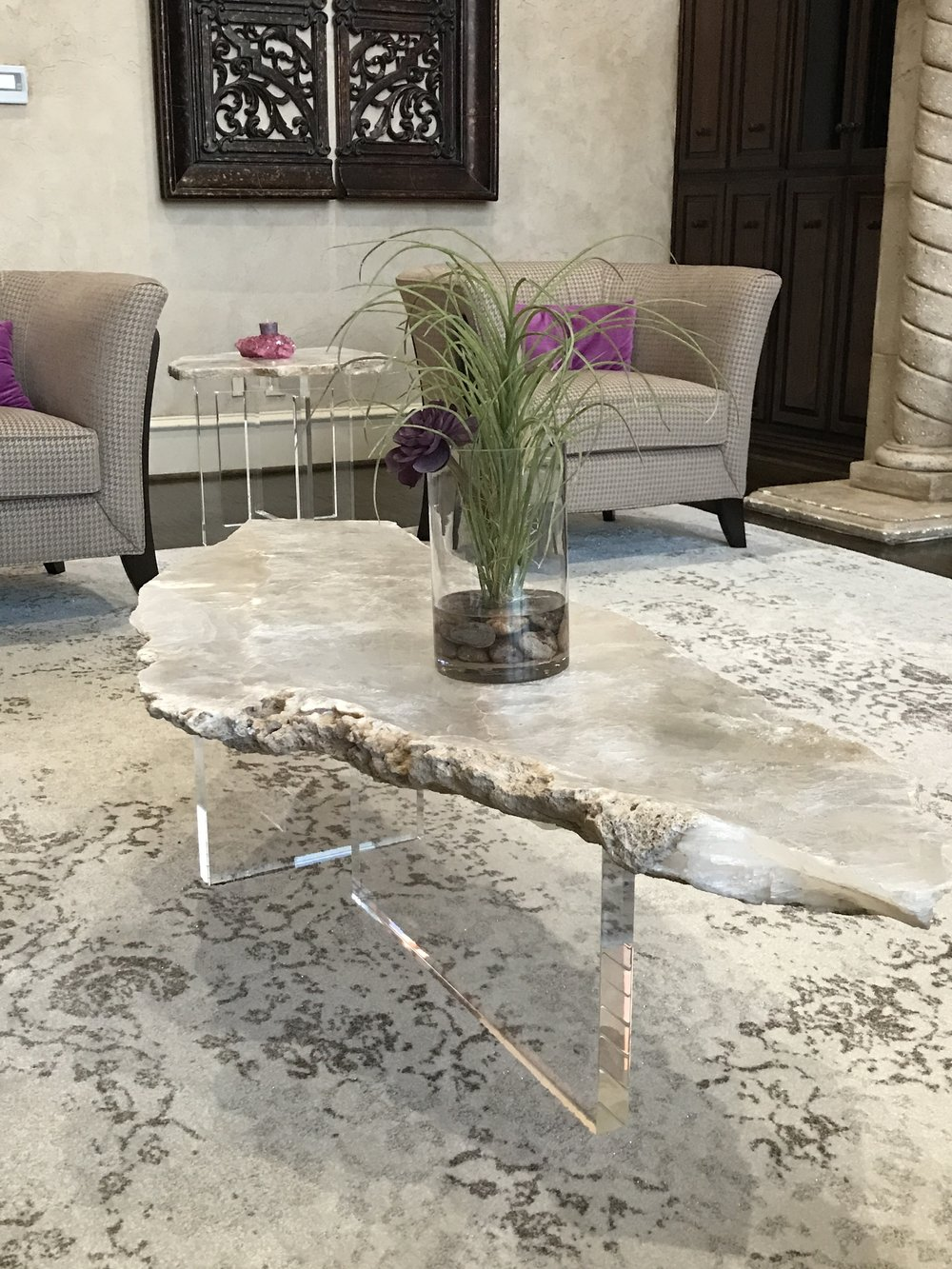 Custom Selenite Furnishings