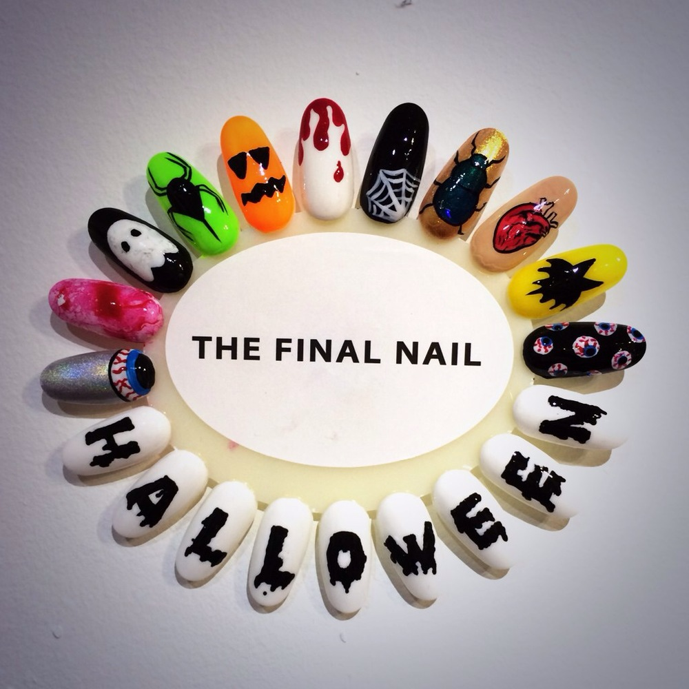 Nail art the final nail spooky halloween gel nail art prinsesfo Images