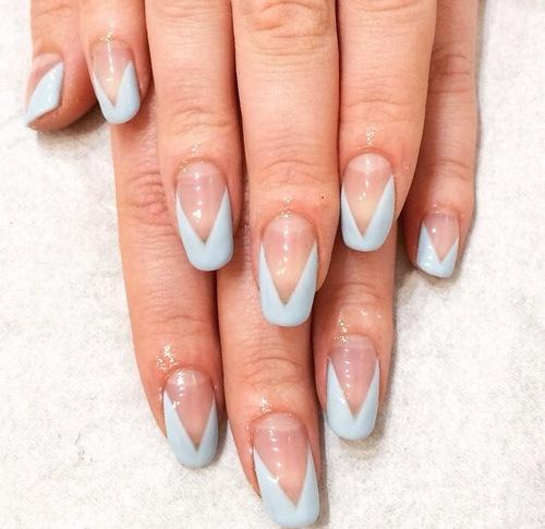 Nail art the final nail grey negative space gel nail art prinsesfo Images