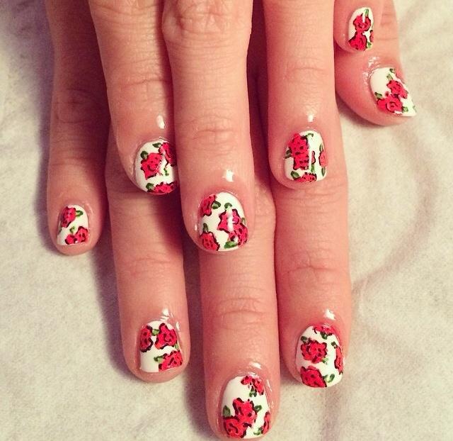 Nail art the final nail red rose gel nail art final nail brighton prinsesfo Choice Image
