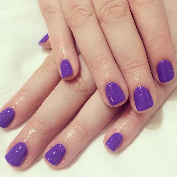 cadbury purple gel nails