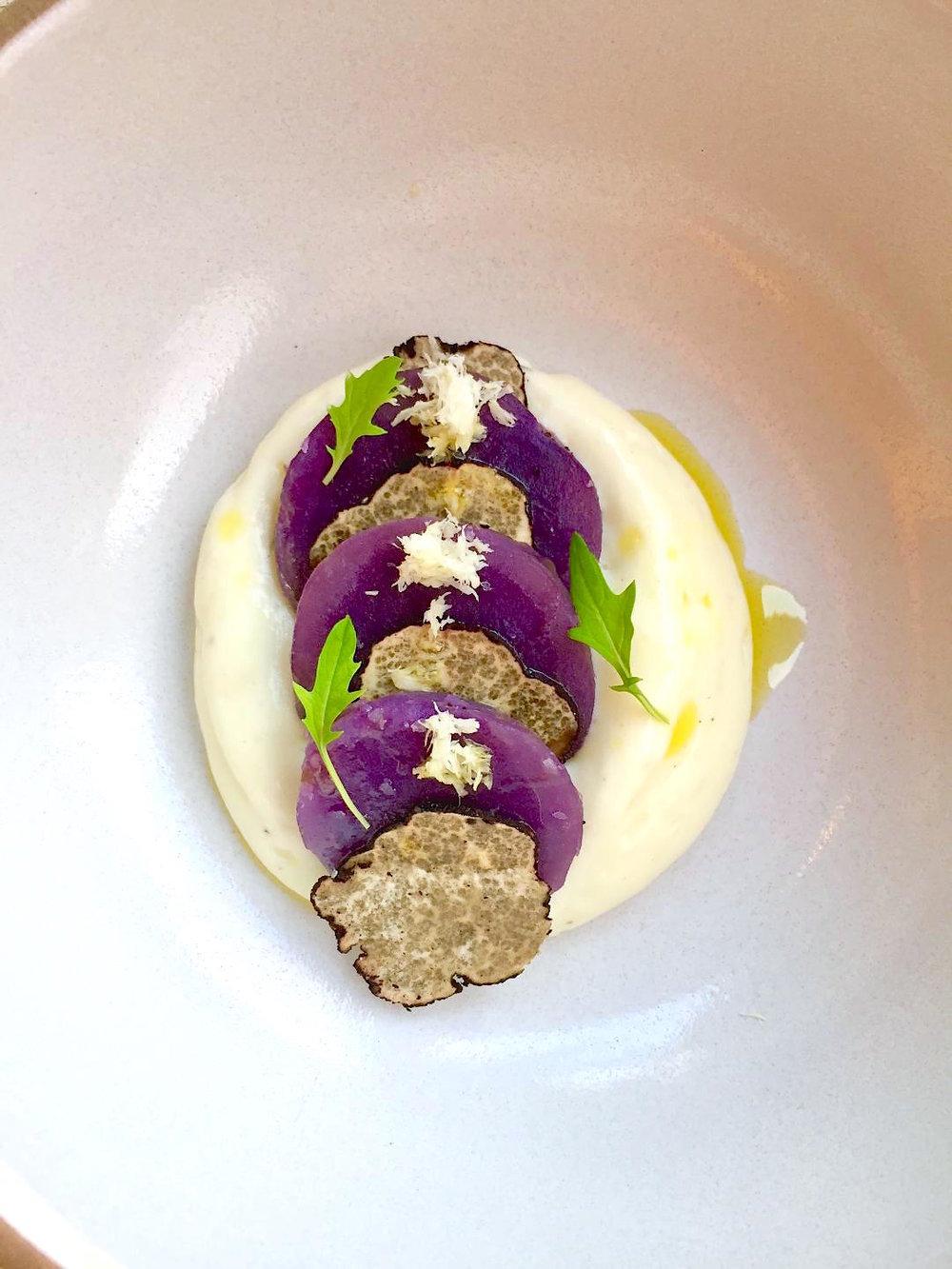 Potato Truffle Fondue