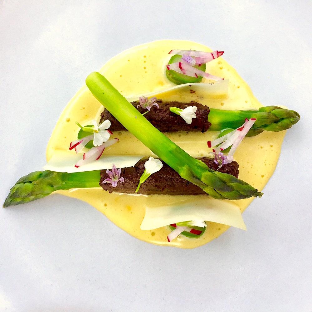 Asparagus, Olive, Hollandaise
