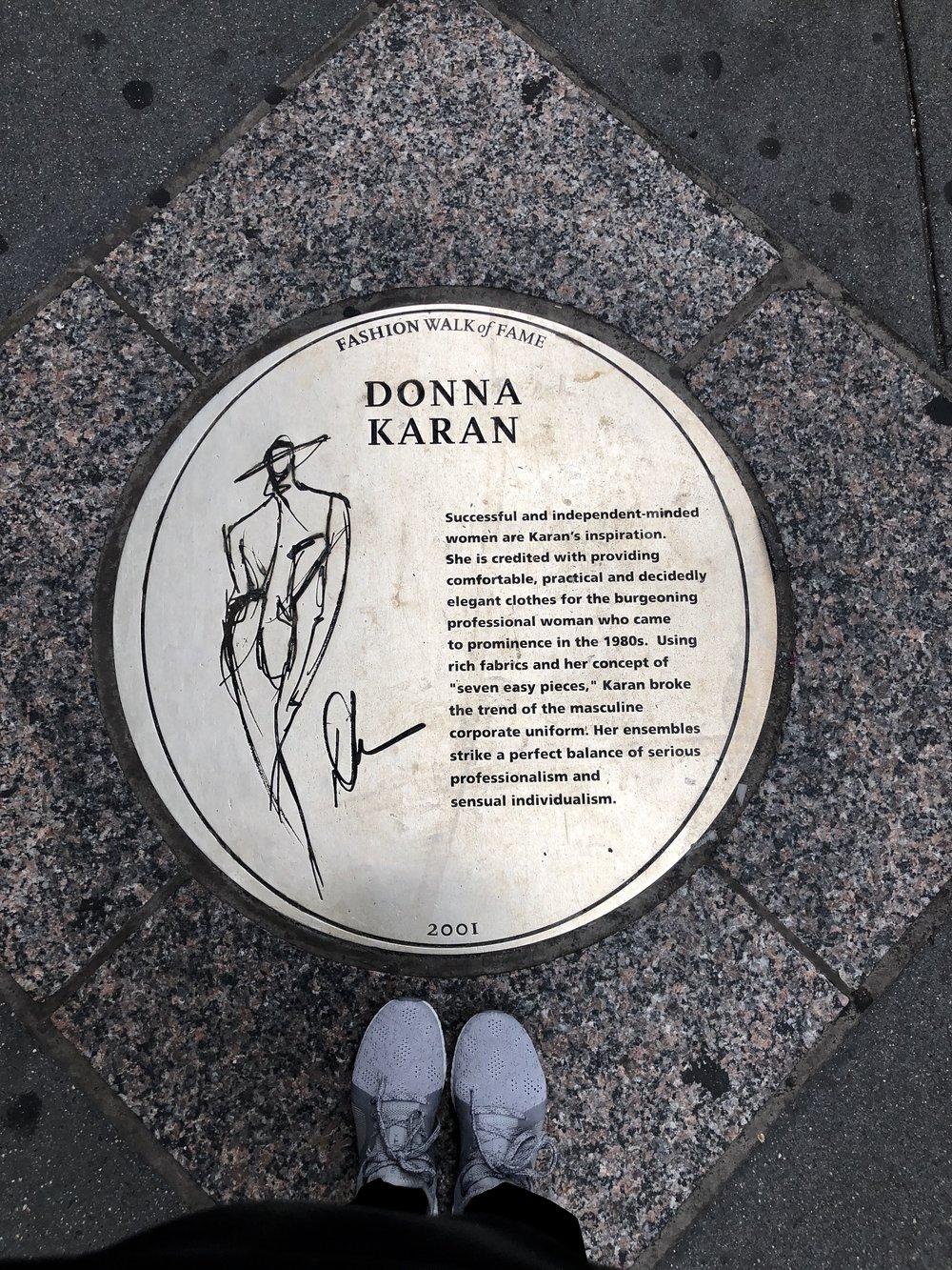 Donna Karan plaque.