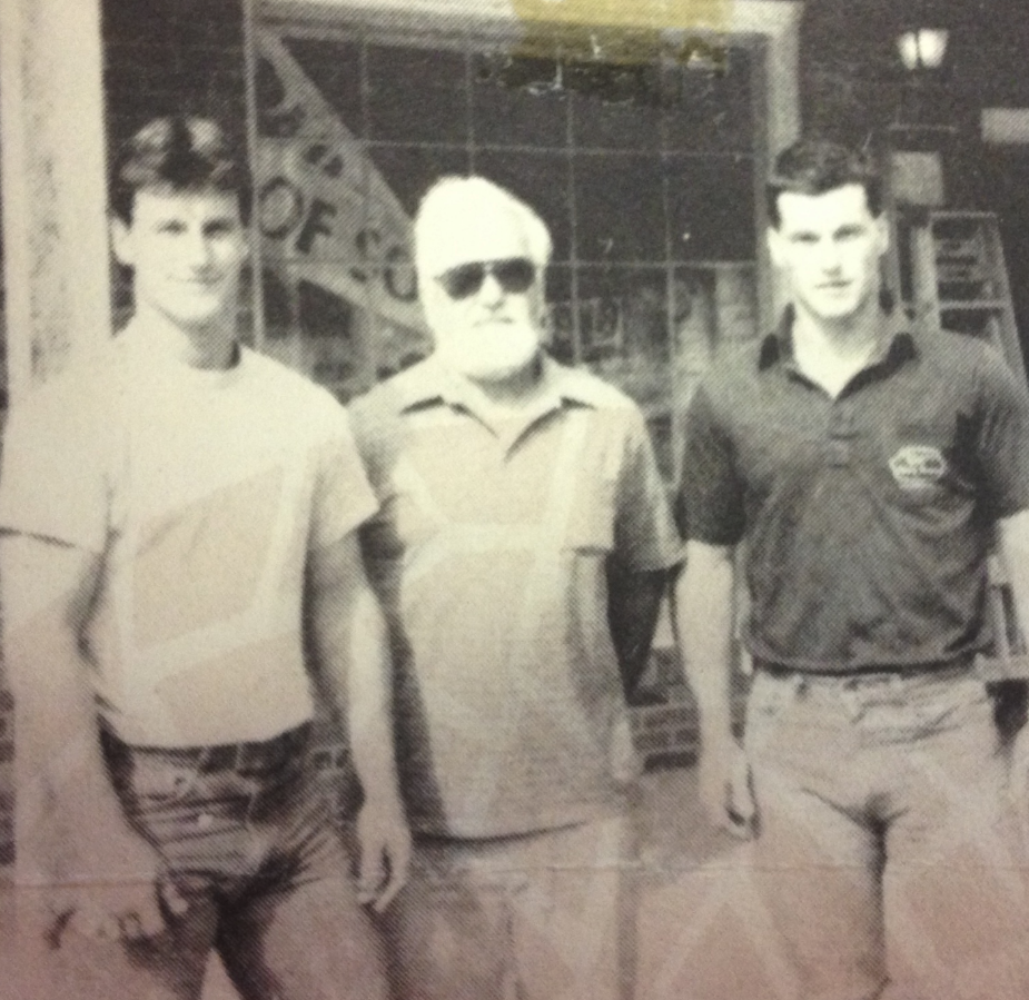 Raymond Haynes with Twin sons Tom & Paul.